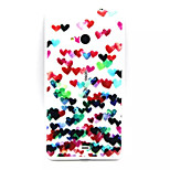 Color Of Love Pattern TPU Painted Soft Back Cover for Nokia  Lumia 535 / Lumia 435