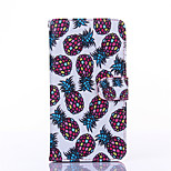 Pineapple Pattern PU Material Card Full Body Case for Samsung Galaxy A3/A5/A7