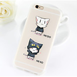 Lovely Cat Pattern TPU Soft Case for iPhone 6