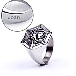 Personalized Gift Jewelry  Spider Shaped Stainless Steel Engraved Men's Rings