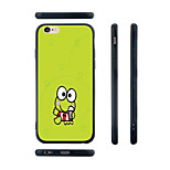 Cartoon Frog Pattern Transparent Silicone Rubber Edge Hard Back Case for iPhone 6