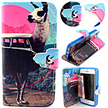 Chevres Pattern with Card Bag Full Body Case for iPhone 5/5S