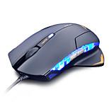 Black EMS123BKC 1600 DPI LED USB Wired Optical Gaming Mouse 3X Adjustable