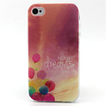 Balloon  Pattern TPU Phone Case for iPhone 4/4S