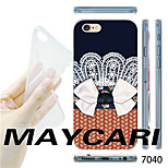 MAYCARI®Lace Bowknot Pattern Transparent TPU Soft Back Case for iPhone 6