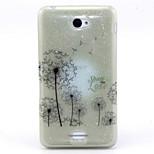 Dandelion Pattern Glitter TPU Material Soft Phone Case for Sony E4