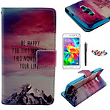 karzea ™ Hügel Sonnenuntergang Muster PU-Lederetui mit Displayschutzfolie und Griffel und Staubstecker für Samsung-grand prime G530