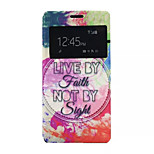 Watercolor Pattern PU Leather Phone Case for Sony Z4