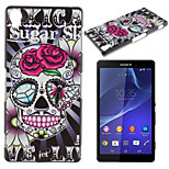 Skull Pattern TPU Material Soft Phone Case for Sony Z1