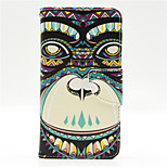 Tribe Monkey Pattern PU Leahter Full Body Case with Card Slot for Microsoft Lumia 640