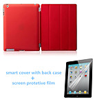 High Quality Auto Sleep PU Leather Stand Case with Back Cover and Screen Protector for iPad Air (Assorted Colors)