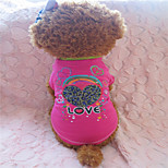 Holdhoney Rose Heart Cotton T-Shirt For Pets Dogs (Assorted Sizes) #LT15050141