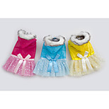Hot selling Fashion Pet Clothes Blue/Yellow/Rose Cotton Dresses For Dogs