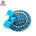FUN OF PETS® Elegant Hat Shaped  Flower Decorated Rubber Band Hair Bow for Pet Dogs  (Random Color)