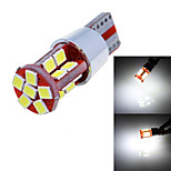 T10 11W 660lm 6000K 22-SMD 2835 LED White Light Car Width Lamp (12-24V/1-Pair)