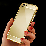 Luxury Plated Wavy edge Metal Frame Adds  acrylic wiredrawing   Cover Phone Shell for Phone 6 4.7inch