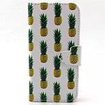 Pineapple Pattern PU Leather Phone Case  For iPhone 5/5S