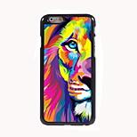 Watercolor Lion Design Aluminum Hard Case for iPhone 6