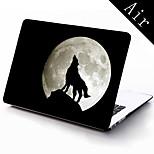 el caso de protección de cuerpo completo de diseño lobo por 11 pulgadas / 13 pulgadas de aire nuevo macbook