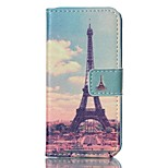 Fashion Design COCO FUN® Huang Tower Pattern PU Full Body Leather Wallet Flip Case Cover for iPhone 5/5S