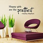 parede adesivos de parede estilo decalques gilrs felizes palavras inglesas&cita parede adesivos pvc