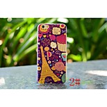 Colorful City View Painted Super Thin TPU Cover Back Skin for iphone 6