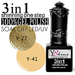 Y-SHINE 2 Pcs Nail Gel Polish Soak Off Uv Gel Nail Polish Y27-41(Light gold&peachpuff)