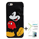 Disney Mickey Cover Case for Iphone5S/5G Free with Headfore Screen Protector for Iphone 5S/5G