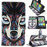 Tribe Fox Pattern PU Leahter Full Body Case with Card Slot for Microsoft Lumia 640