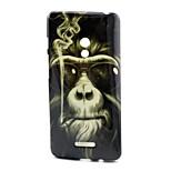 Smoking monkey  Pattern TPU Soft Case for Asus Zenfone 5