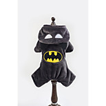 Batman Pet Clothes  Fleece Hoodies For Dogs