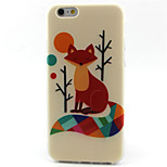 Fox Pattern TPU Painted Soft Back Cover for iPhone 6