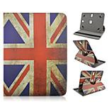 Union Jack-Muster 360-Grad-Drehung Qualität PU-Leder mit Standplatzfall für 10-Zoll-Universal-Tablette