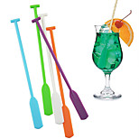 multicolor palillos de swizzle paddle kayak 5 piezas palos stir barra bebida coctel (color al azar)