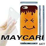 MAYCARI®Smile Chocolate Pattern Transparent TPU Soft Back Case for iPhone 6