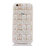 Elephant Pattern Hard Back Case for iPhone 6 Plus