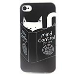 cassa del telefono gatto e libri modello TPU per il iPhone 4 / 4s