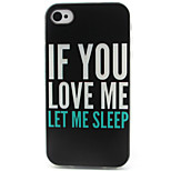 Letter Pattern TPU Phone Case for iPhone 4/4S
