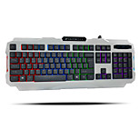 Colorful Light Waterproof  Professional Wired USB Luminous Gaming  Keyboard  With System Windows2000.XP(PS2-SP3) K-2