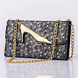 Seventy Percent off Leather Wallet Lace High-Heeled Chain for Samsung Galaxy S4 I9500(Assorted Colors)