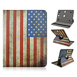 Star-Spangled Banner Pattern 360 Degree Rotation High Quality PU Leather with Stand Case for 10 Inch Universal Tablet