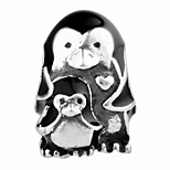 Penguin Family silver beads for bracelet and necklace