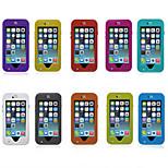 a prueba de agua nieve polvo a prueba de golpes titular prueba dot cubierta del caso para el iphone de apple 6 más (colores surtidos)
