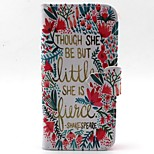 Lace Letter Pattern PU Leather Material Card Full Body Case for iPhone 5/5S