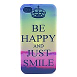 Happy SmilingPattern PC Material Phone Case for iPhone 4/4S