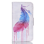 Feather  Pattern PU Leather Double-Sided Phone Case For iPhone 5/5S