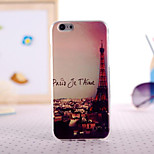 Romantic Paris Painting Ultrathin TPU with Plastic for iPhone 6