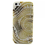 Golden Flowers Pattern TPU Painted Soft Back Cover for iPhone 5/5S