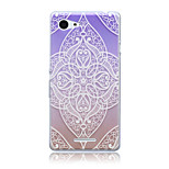 Color Lace Flowers Pattern TPU Soft Back Cover Case for Sony Xperia E3