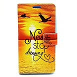 Sunrise Pattern PU Leather Full Body Case with Card Slot and Stand for LG G2/D802